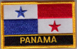 Panama Embroidered Flag Patch, style 09.
